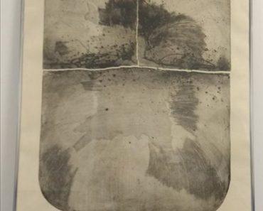 24.1.2019 Dražba umění (Kompozice lept 88 x 66, Jan Měřička). Vyvolávací cena 850 Kč, ID418279