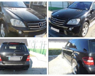10.7.2019 Dražba automobilu Mercedes Benz ML 63 AML. Vyvolávací cena 341.076 Kč.