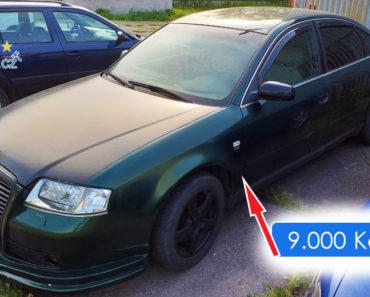 24.6.2019 Dražba automobilu Audi A6. Vyvolávací cena 9.000 Kč, ID563188