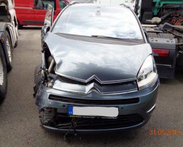 18.7.2019 Dražba automobilu Citroën C4 Picassso. Vyvolávací cena 5.000 Kč, ID580019