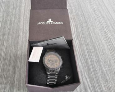 11.7.2019 Dražba hodinek Jaques Lemans. Vyvolávací cena 3.000 Kč.