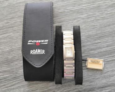 11.7.2019 Dražba dámských hodinek Roamer - vodotěsné. Vyvolávací cena 2.700 Kč.