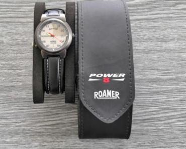 11.7.2019 Dražba pánských hodinek Roamer Power. Vyvolávací cena 1.600 Kč.