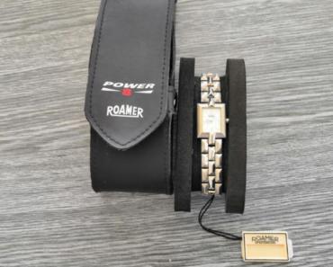 11.7.2019 Dražba dámských hodinek Roamer. Vyvolávací cena 2.300 Kč.