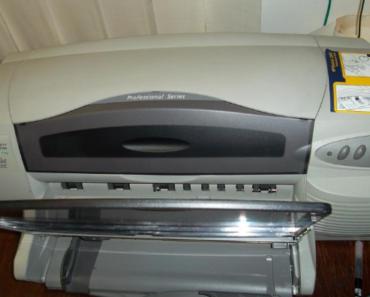 9.7.2019 Dražba tiskárny HP DeskJet. Vyvolávací cena 225 Kč.