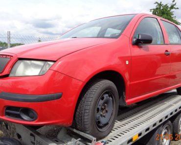 11.7.2019 Dražba automobilu Škoda Fabia. Vyvolávací cena 7.000 Kč, ID579996