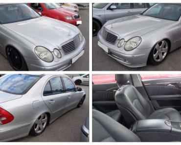 25.7.2019 Dražba automobilu Mercedes Benz E 400. Vyvolávací cena 50.000 Kč.
