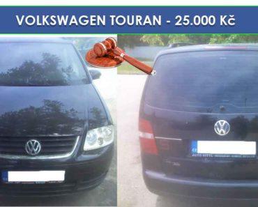 17.7.2019 Dražba automobilu VOLKSWAGEN TOURAN. Vyvolávací cena 25.000 Kč, ID581713