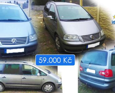 26.6.2019 Dražba automobilu VW Sharan 4x4 1,9 TDI. Vyvolávací cena 59.000 Kč