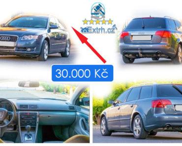 21.6.2019 Dražba automobilu Audi Avant A4 . Vyvolávací cena 30.000 Kč.