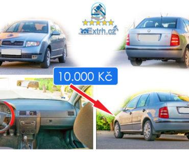 21.6.2019 Dražba automobilu Škoda Fabia. Vyvolávací cena 10.000 Kč.