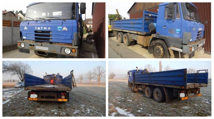 Do 10.7.2019 Výběrové řízení na prodej nákladního automobilu Tatra 815. Minimální kupní cena 255.552 Kč.