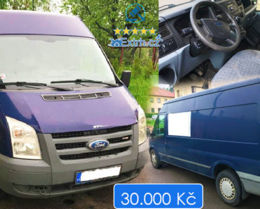 1.7.2019 Dražba automobilu Ford Transit. Vyvolávací cena 30.000 Kč, ID574343