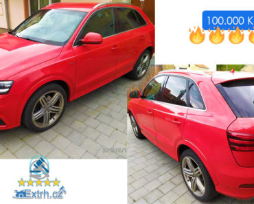 31.7.2019 Dražba automobilu Audi Q3. Vyvolávací cena 100.000 Kč.