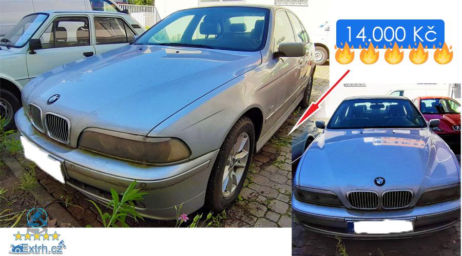27.6.2019 Dražba automobilu BMW 530D. Vyvolávací cena 14.000 Kč.