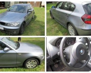 27.8.2019 Dražba automobilu BMW 116i. Vyvolávací cena 20.000 Kč, ➡️ ID607330