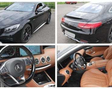 3.8.2019 Dražba automobilu Mercedes Benz AMG S63 4MATIC. Vyvolávací cena 3.073.000 Kč, ➡️ ID607473