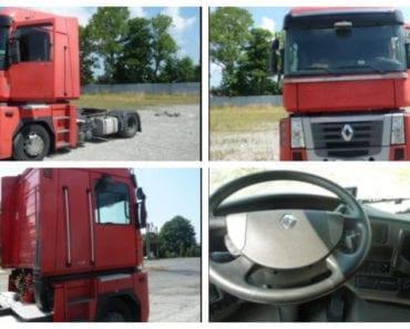 6.9.2019 Dražba nákladního automobilu Renault Magnum. Vyvolávací cena 95.000 Kč, ➡️ ID608387