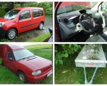 3.9.2019 Dražba souboru vozidel - Renault Kangoo, Přívěsný vozík, Škoda Pickup. Vyvolávací cena 71.334 Kč, ➡️ ID608493