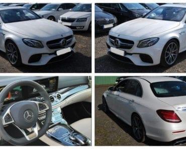 3.8.2019 Dražba automobilu Mercedes Benz E 63 S AMG. Vyvolávací cena 1.960.000 Kč, ➡️ ID607496
