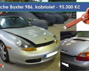 Do 13.8.2019 Aukce automobilu Porsche Boxster 986. Vyvolávací cena 95.300 Kč, ➡️ ID607845