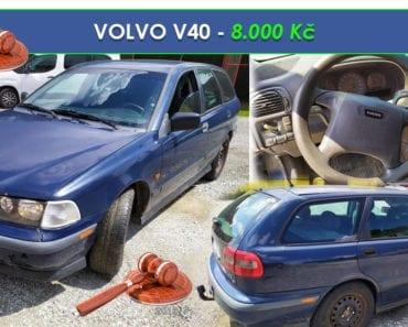 28.8.2019 Dražba automobilu VOLVO V40. Vyvolávací cena 8.000 Kč, ➡️ ID608263