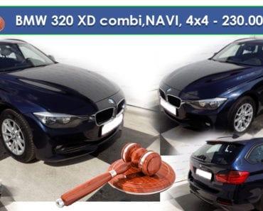 25.7.2019 Aukce automobilu BMW 320 XD combi,NAVI, 4x4. Vyvolávací cena 230.000 Kč, ➡️ ID598033