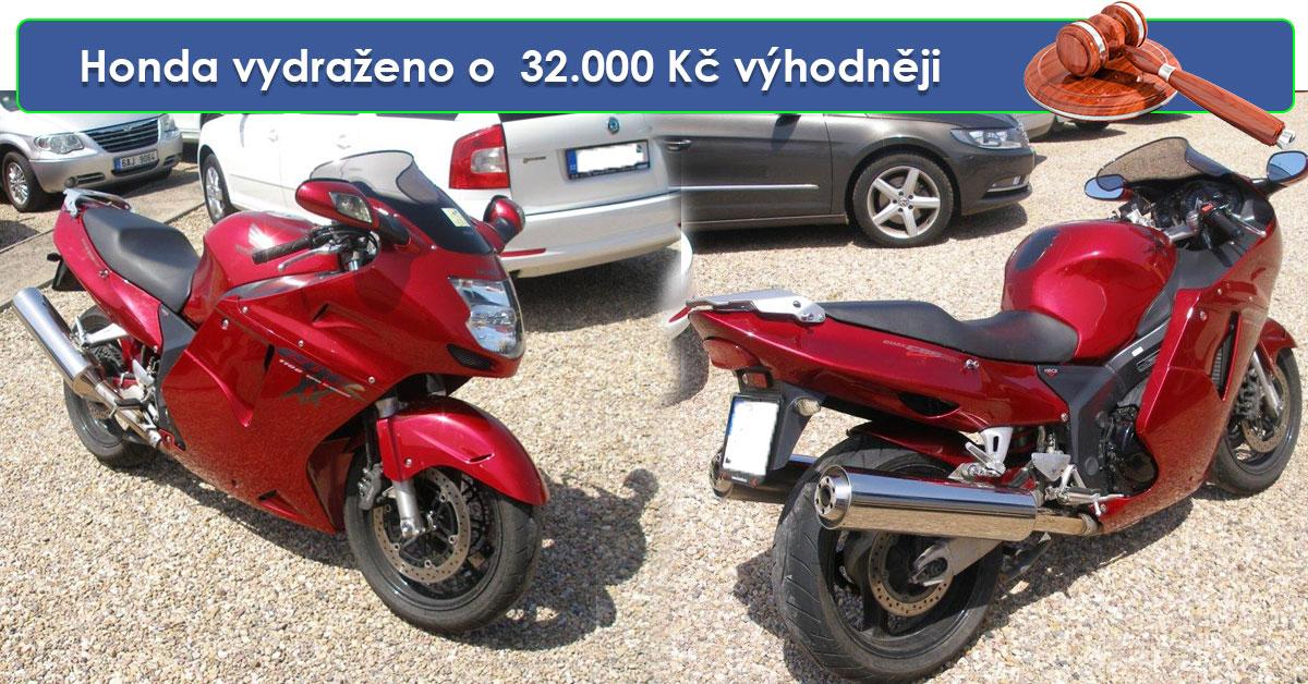Zisková dražba motocyklu Honda – vydražitel ušetřil krásných 32.000 Kč