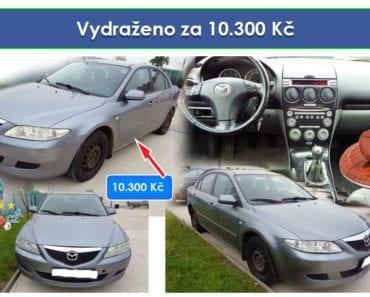 Zisková Dražba Mazda 6 - vydraženo jen za 10.300 Kč
