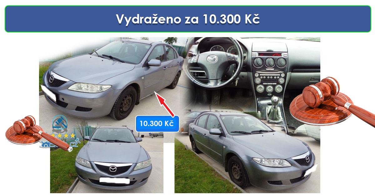 Zisková Dražba Mazda 6 – vydraženo jen za 10.300 Kč