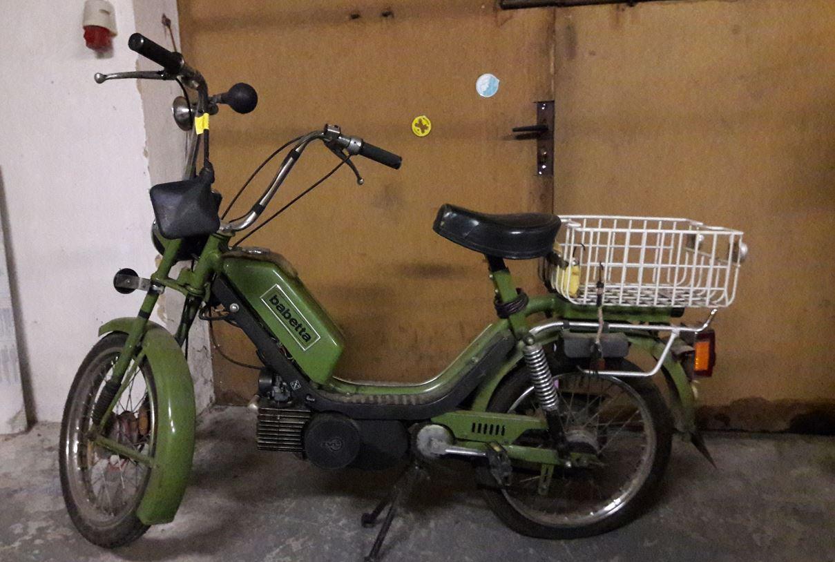 20.8.2019 Dražba motocyklu Babeta. Vyvolávací cena 5.000 Kč, ➡️ ID607824