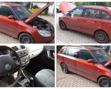 29.8.2019 Dražba automobilu Škoda Fabia, kombi. Vyvolávací cena 9.000 Kč, ➡️ ID612934