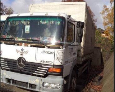 13.8.2019 Dražba automobilu Mercedes Benz Atego. Vyvolávací cena 20.000 Kč.