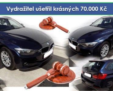 Zisková dražba auta BMW 320 XD combi,NAVI, 4×4 - Vydražitel ušetřil krásných 70.000 Kč