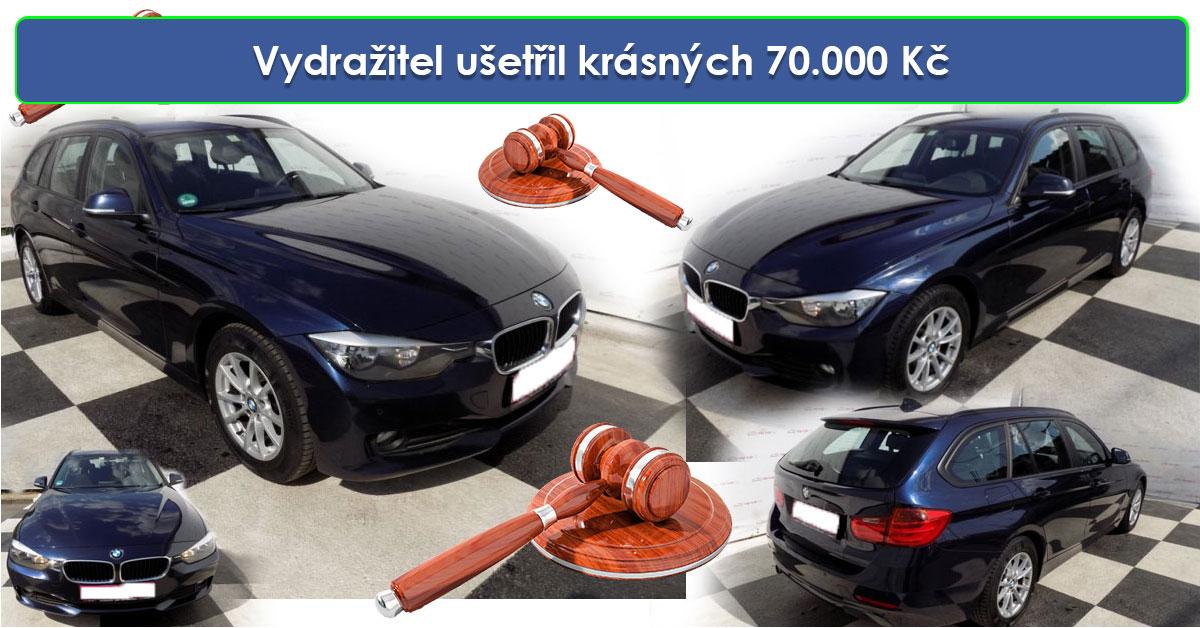 Zisková dražba auta BMW 320 XD combi,NAVI, 4×4 – Vydražitel ušetřil krásných 70.000 Kč