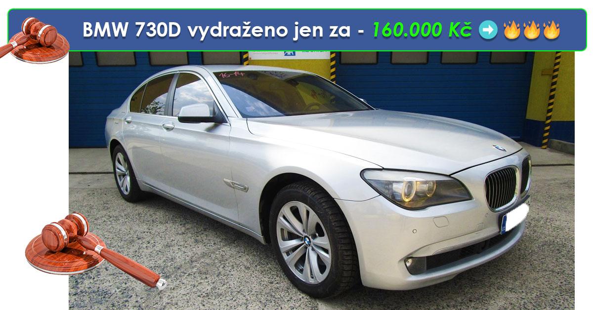 Zisková Dražba BMW 730D vydraženo jen za – 160.000 Kč ➡️ 🔥🔥🔥