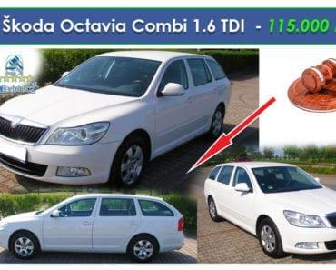 Zisková Dražba Škoda Octavia Combi 1.6 TDI - 115.000 Kč ➡️