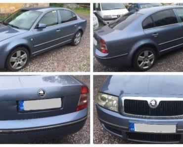 20.8.2019 Dražba automobilu Škoda Superb. Vyvolávací cena 12.000 Kč, ➡️ ID606943