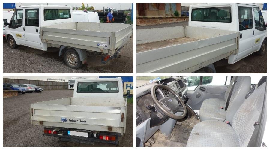 9.8.2019 Dražba nákladního automobilu Ford Transit valník. Vyvolávací cena 96.800 Kč, ➡️ ID607613