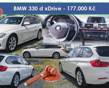 5.9.2019 Dražba automobilu BMW 330 d xDrive. Vyvolávací cena 177.400 Kč, ➡️ ID606907
