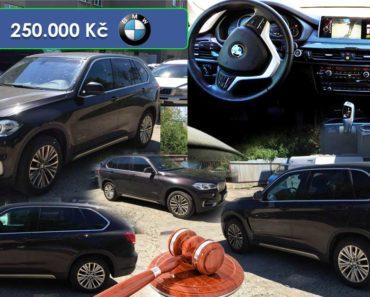 25.7.2019 Dražba automobilu BMW X5 xDrive, 190 kW. Vyvolávací cena 250.000 Kč, ➡️ ID587268