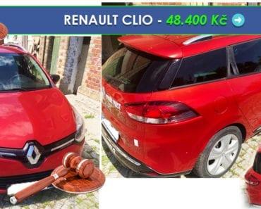 27.8.2019 Dražba automobilu RENAULT CLIO. Vyvolávací cena 48.400 Kč, ➡️ ID608835