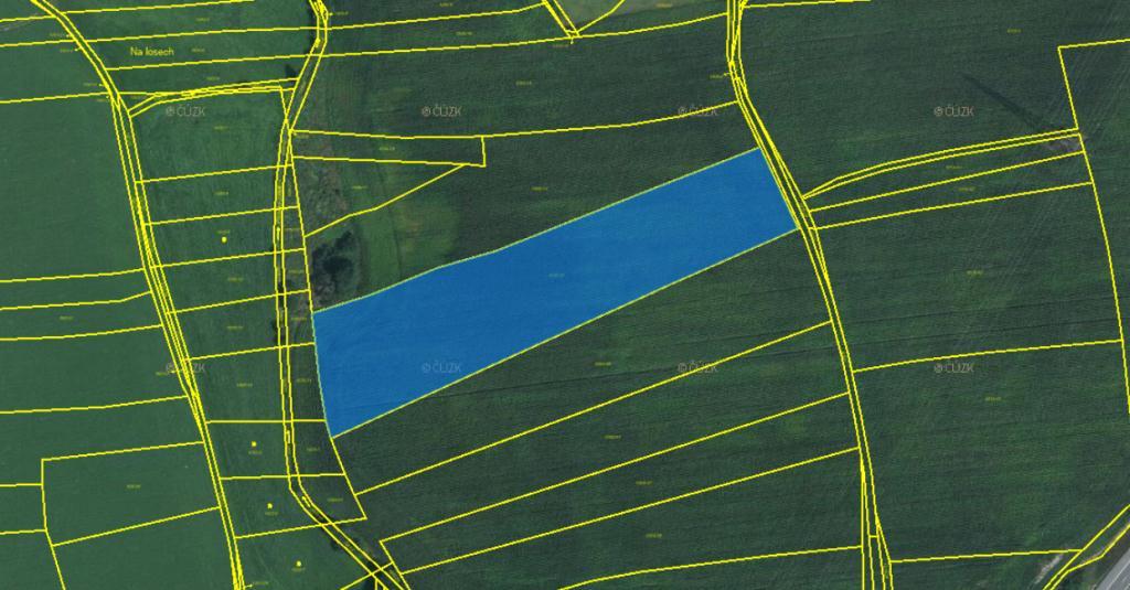 4.9.2019 Dražba nemovitosti (Pozemky - trvalý travní porost a orná půda - podíl ve výši 1/16). Vyvolávací cena 380.000 Kč, ➡️ ID607332