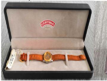 6.9.2019 Dražba ostatních movitých věcí (Dámské hodinky Certina). Vyvolávací cena 1.900 Kč, ➡️ ID621084