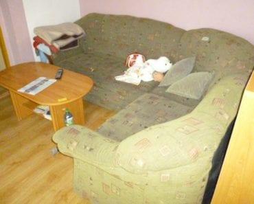 25.9.2019 Dražba nábytku (Rohová sedací souprava + 1x taburet). Vyvolávací cena 500 Kč, ➡️ ID620052