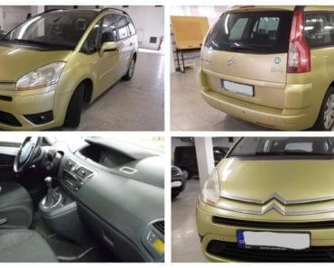 24.9.2019 Dražba automobilu Citroën C4 PICASSO 1.8. Vyvolávací cena 50.000 Kč, ➡️ ID620722