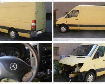 5.9.2019 Dražba nákladního automobilu MERCEDES-BENZ SPRINTER 315 CDi. Vyvolávací cena 10.000 Kč, ➡️ ID614338