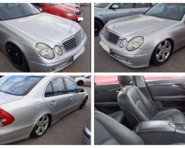 19.9.2019 Dražba automobilu Mercedes Benz E 400. Vyvolávací cena 30.000 Kč, ➡️ ID614378