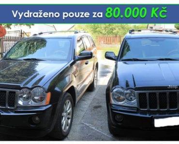 Zisková soudní dražba auta JEEP Grand Cherokee - vydraženo pouze za vyvolávací cenu 80.000 Kč