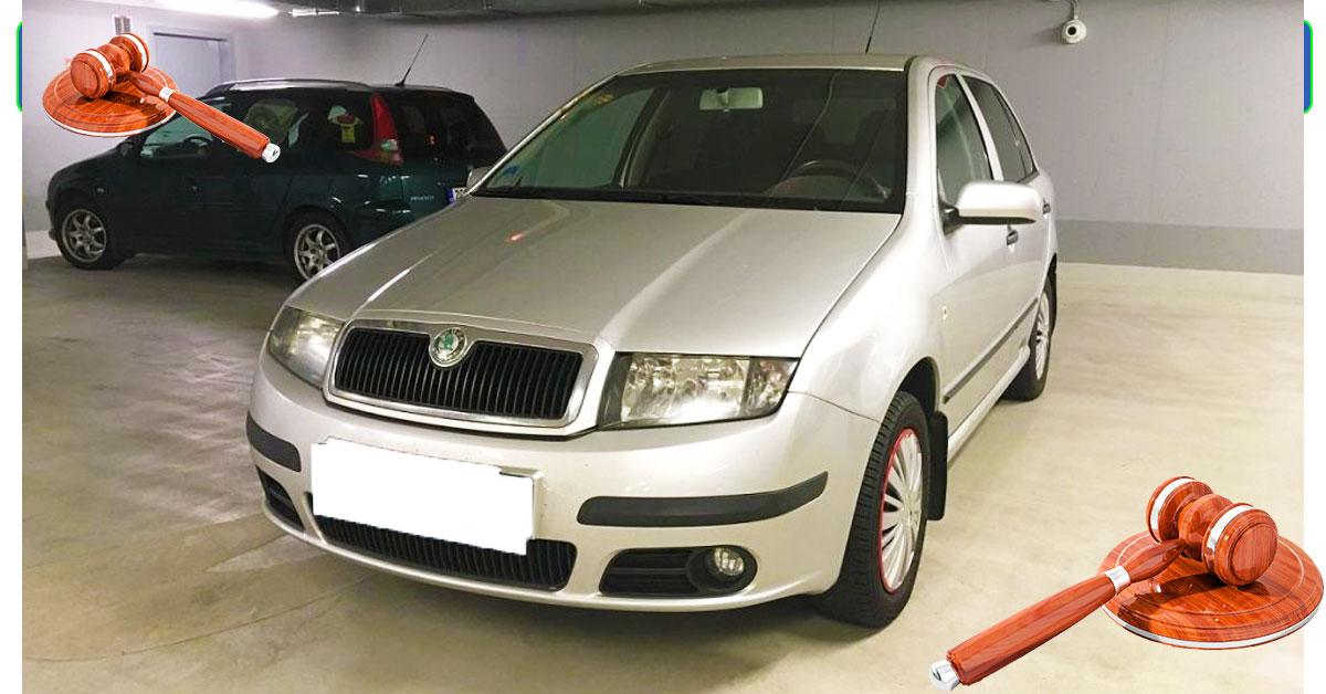 Do 22.8.19 Aukce automobilu Škoda Fabia Ambiente, Vyvolávací cena 10.000 Kč. ID nabídky 621472